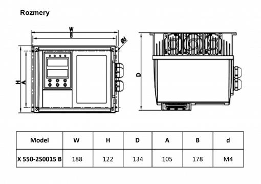 frekvenčný menič X550-2S0015