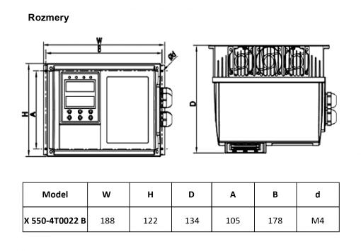 frekvenčný menič X550-4T0022