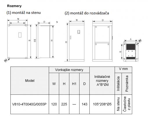 frekvenčný menič v810-4T0055P